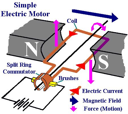Principle Of Electric Motor by Motor Principle