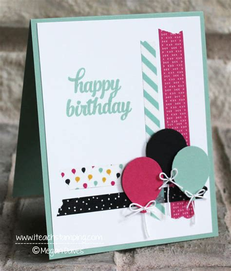ideas of birthday cards one of many birthday card ideas using washi