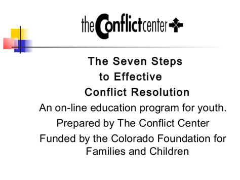 the card 7 steps to an educator s creative breakthrough the seven steps to effective conflict resolution