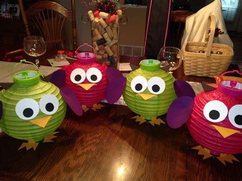 paper lantern craft ideas diy owl paper lanterns diy crafting ideas