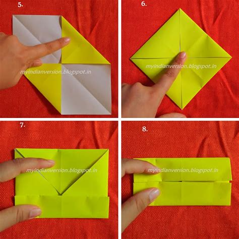 origami paper weight my indian version diy paper box tutorial