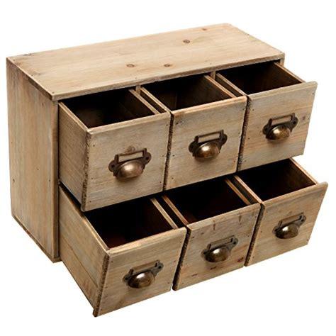 desk storage drawer vintage style wood 6 drawer cabinet box decorative