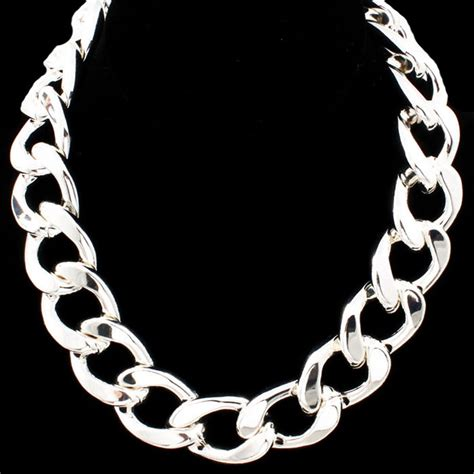 silver chains for jewelry inspired thick silver chain link necklace