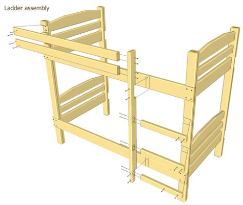 woodworking plans beds bunk bed plans