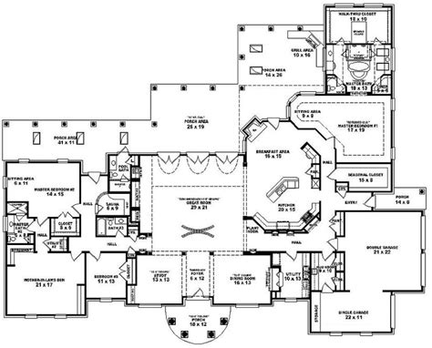 one story house blueprints mediterranean house plans single story cottage house plans