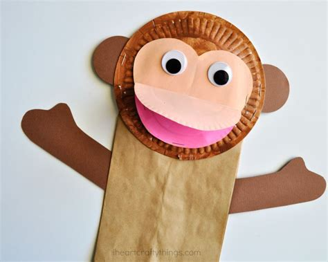 paper bag monkey craft paper bag monkey craft for i crafty things
