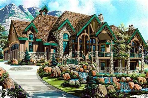 luxery home plans luxury house plans rustic craftsman home design 8166