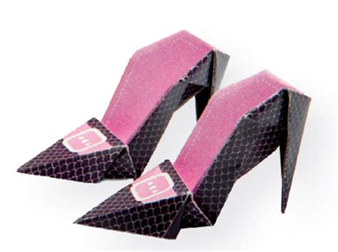 origami shoe high heeled origami shoes family crafts