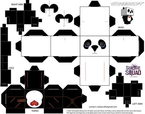 paper craft panda panda cubeecraft by jagamen on deviantart