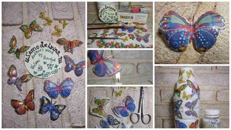 butterfly decoupage how to make decoupage butterfly simple craft ideas