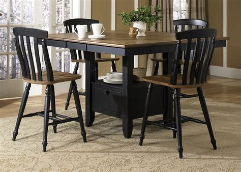 gathering table set al fresco black gathering table dining room set from