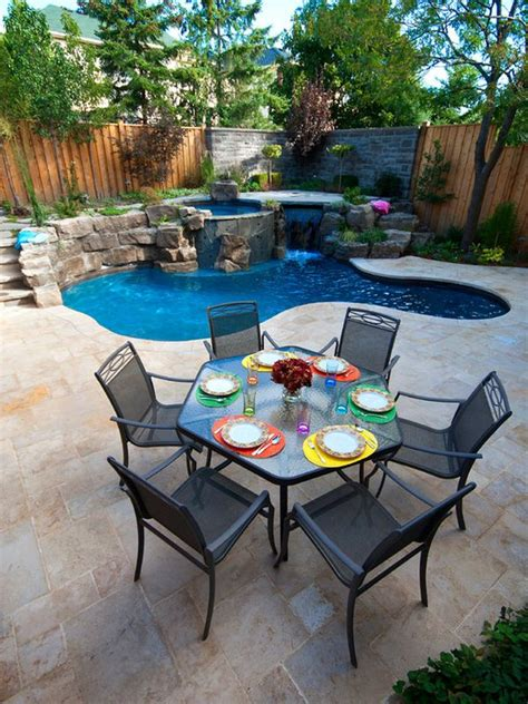 backyards with pool spruce up your small backyard with a swimming pool 19