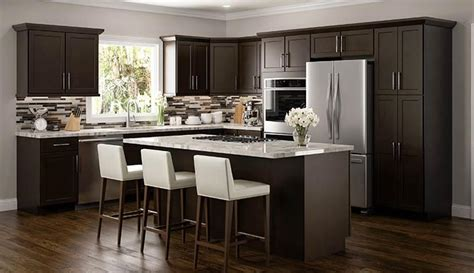 espresso kitchen cabinets rta wood kitchen cabinets ready to assemble kitchen