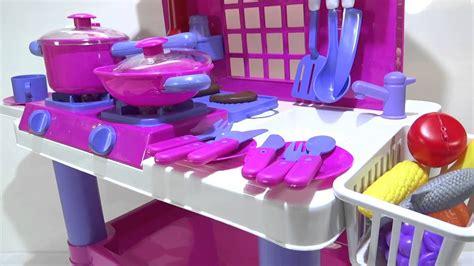 juegos de cocina con bebes cocina rosada de juguete para ni 241 as con luces y sonidos