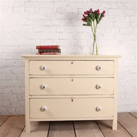Vintage Shabby Chic Farmhouse Style Chest Of Drawers