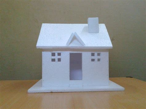 how to make a small house how to make a small thermocol house model craft ideas for