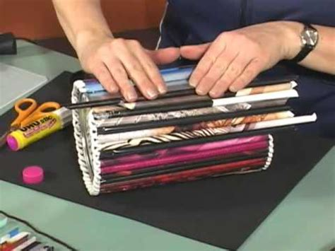 how to make paper from magazines magazine roll up crafts