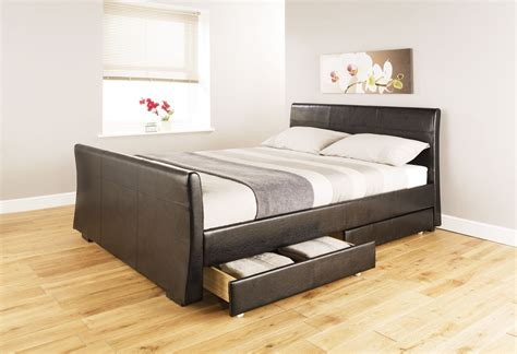 cheap beds with storage pin beds cheap leather storage on