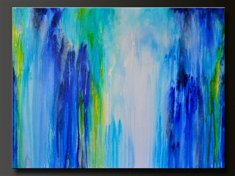 acrylic paint drip technique downpour 40 x 30 abstract acrylic painting