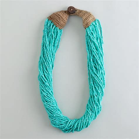 seed bead necklace turquoise multi strand seed bead necklace world market