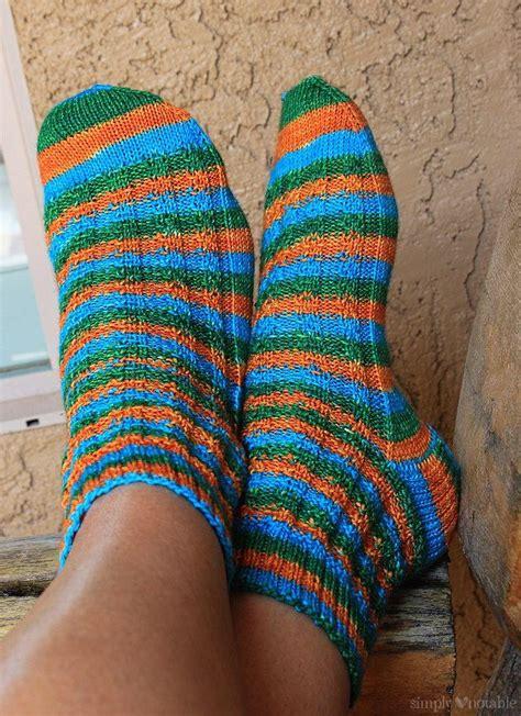 slip stitch knit slip stitch striped knit socks allfreeknitting