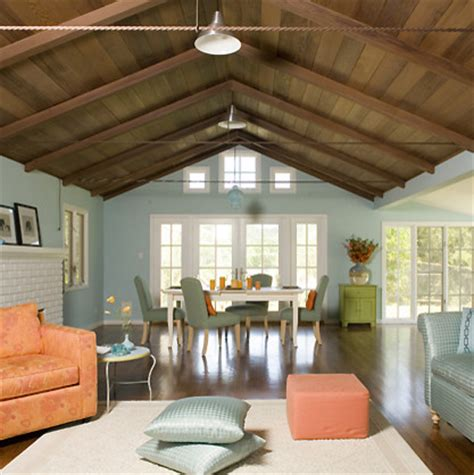 paint colors for living room with wood ceiling is the ceiling redwood also i how the floor