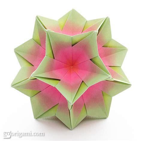 origami kusudama kusudama origami gallery go origami