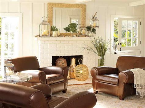 brown leather furniture decorating ideas living room cool ideas of pottery barn living room colors shabby chic lake house decor