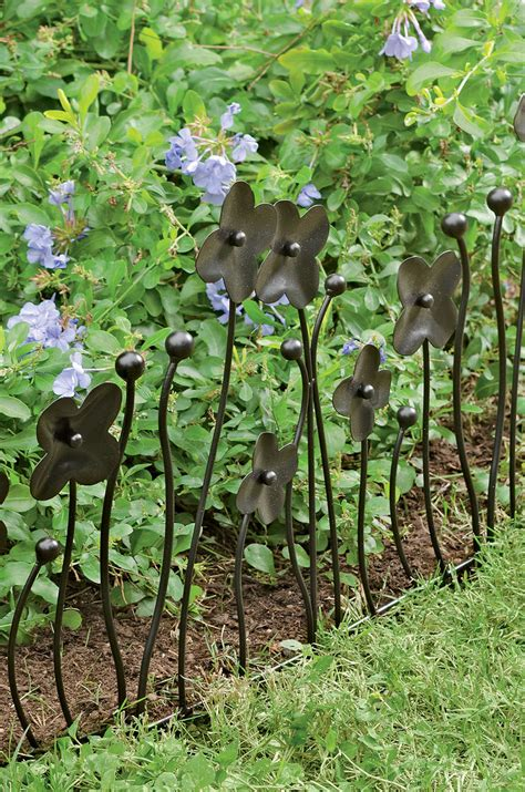flowers for garden borders garden border fencing decorative edging with flowers