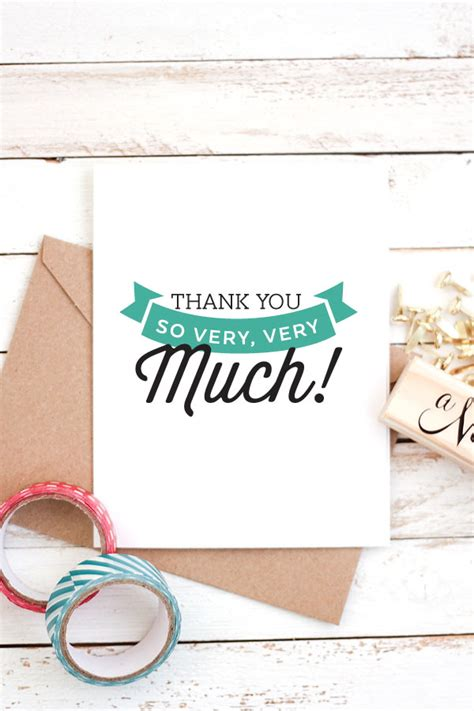 make thank you cards with photos free free printable thank you cards