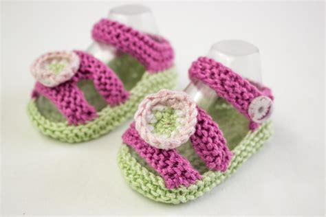 knitted sandals baby summer sandals by alma mahler knitting pattern