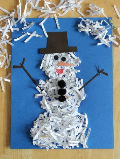 winter paper crafts snowman crafts for