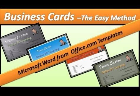 how to make business cards in word 2013 how to make a business card with microsoft word