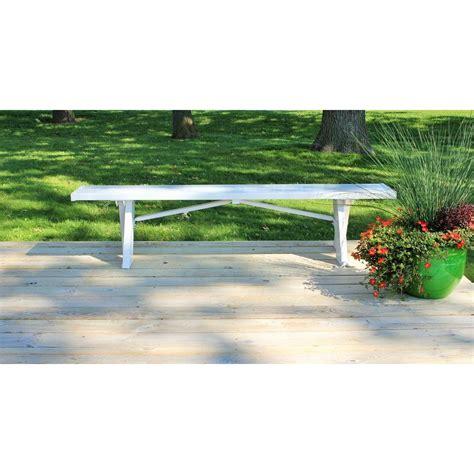 plastic patio bench dura trel white vinyl 6 ft plastic outdoor patio bench