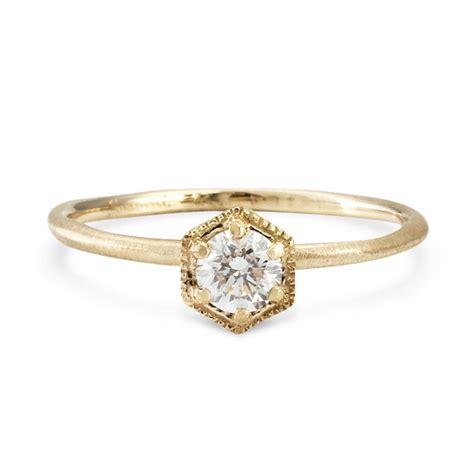 jewelry ring hexagon ring white gold catbird