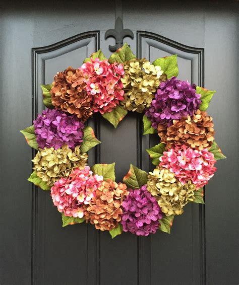 door wreaths summer wreaths front door wreaths hydrangea wreath