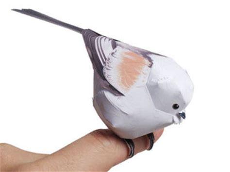 paper craft birds animals bird paper model pepakura corner