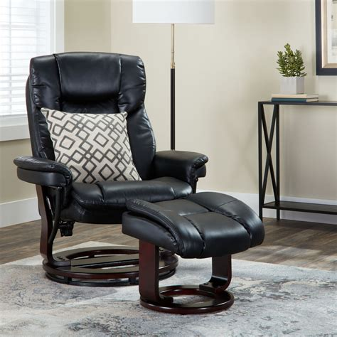 recliner with ottoman leather leather recliner with ottoman southern enterprises