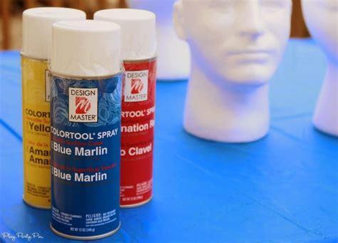 spray painting styrofoam foam cake pop holder play plan