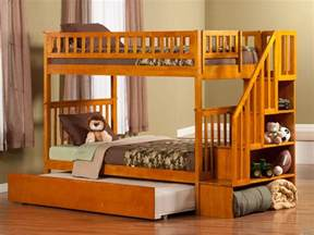 woodland bunk beds woodland staircase trundle bunk bed atlantic furniture