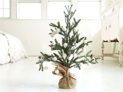 mini white tree tree snow white christmis garland and mini by