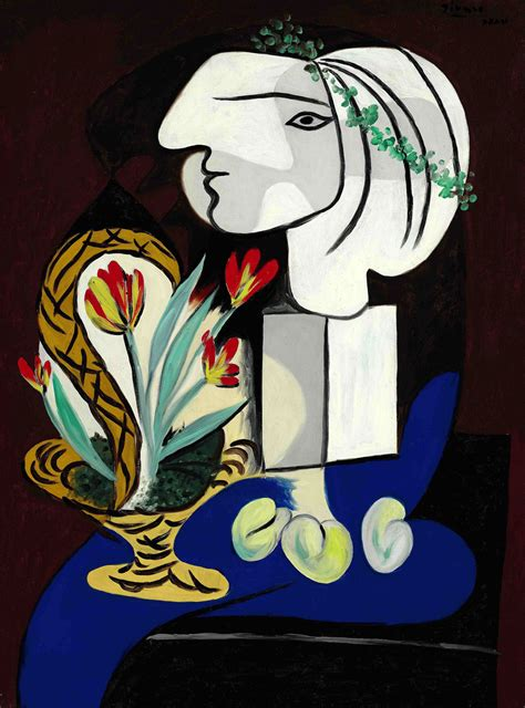 pablo picasso nature paintings picasso s quot nature morte aux tulipes quot and warhol s quot statue
