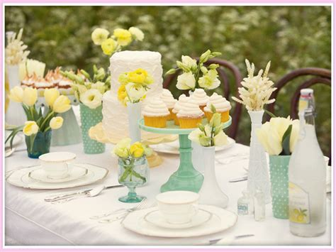 Green And Yellow Table Decorations by Memorable Wedding Cheap Wedding Table Centerpiece Ideas