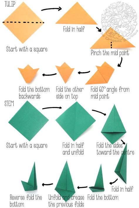 origami tulip step by step project origami tulip