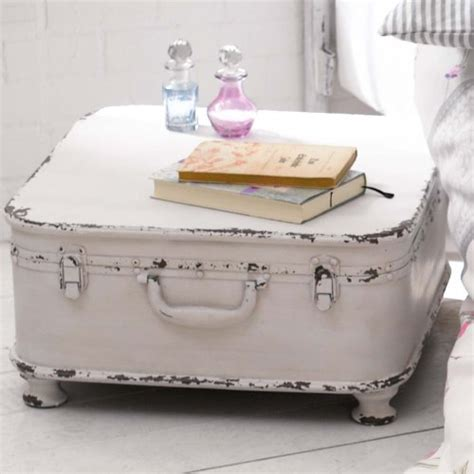 shabby chic suitcase coffee table side table quot suitcase quot with storage shabby