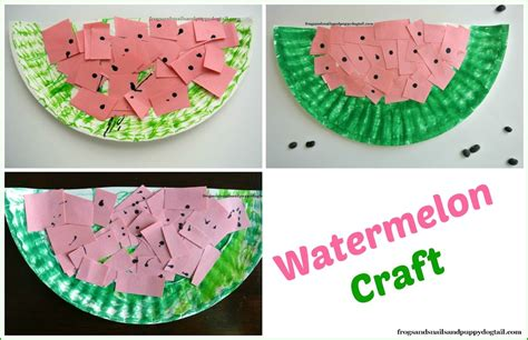 watermelon paper craft watermelon scissor skills and paper plate craft fspdt