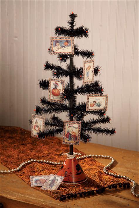 black mini tree nostalgic black feather tree with mini deco bead