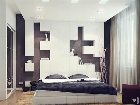 modern bedroom design ideas 2012 black white bedroom storage headboard interior design ideas