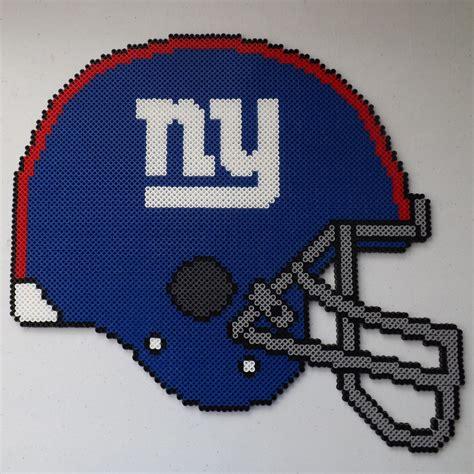 perler football ny giants football helmet perler bead by kamikazekeeg