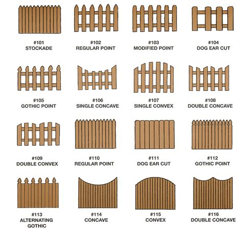 woodworking styles types of wooden fences gardening outdoors